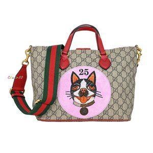 Gucci 473887 GG Supreme & Leather Bosco Small Tote